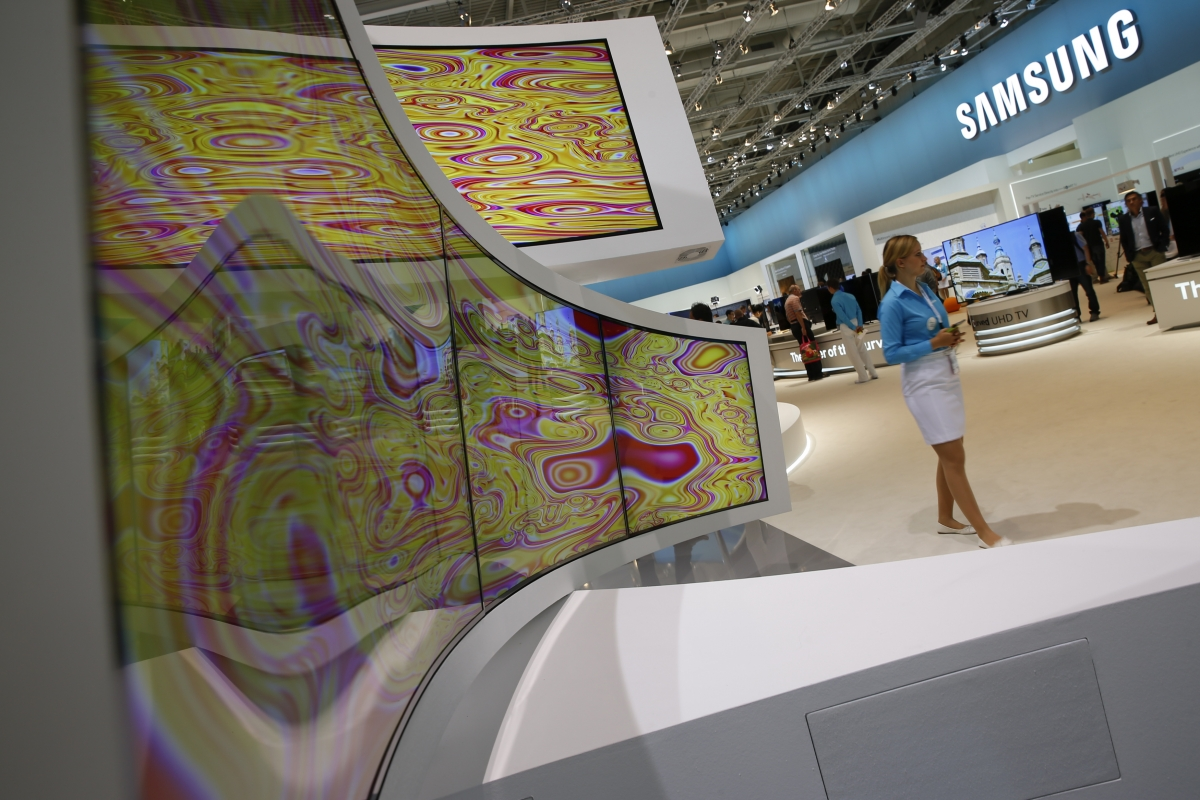 Curved Samsung televisions