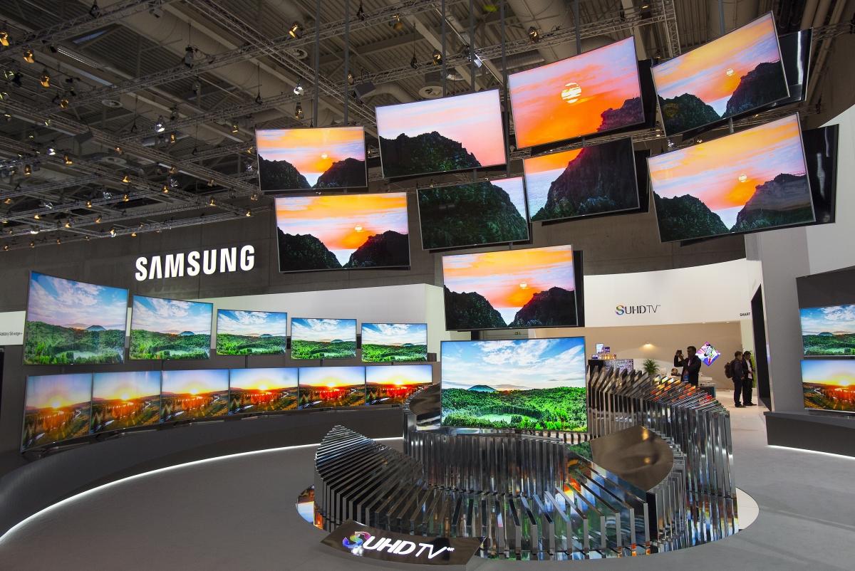 Samsung televisions at IFA 2015