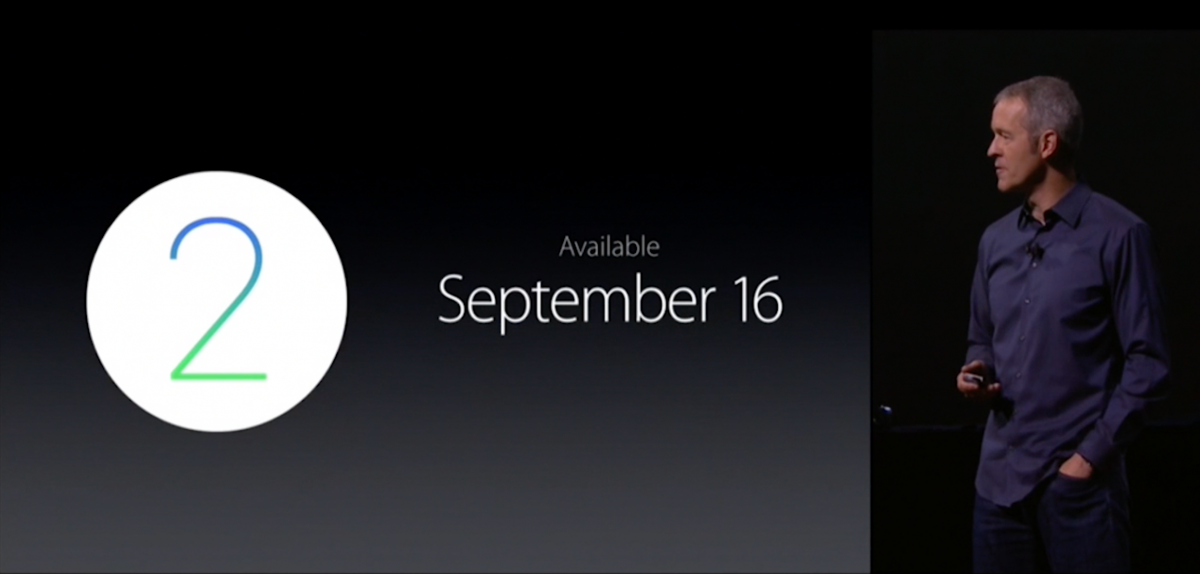 watchOS 2 for Apple Watch availability
