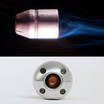 A regular bullet and the Alternative ball