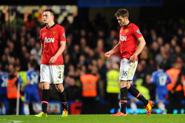 Michael Carrick and Phil Jones