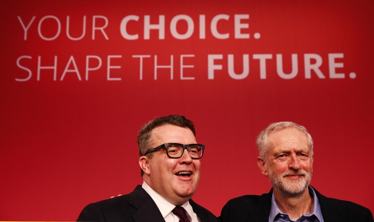 Labour deputy Tom Watson Leader Jeremy Corbyn
