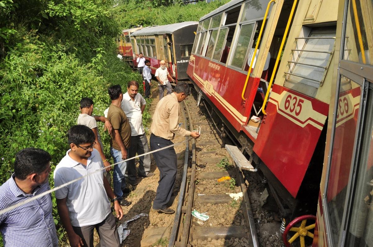 The train derailed