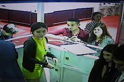 CCTV footage of Chinese diamond thief