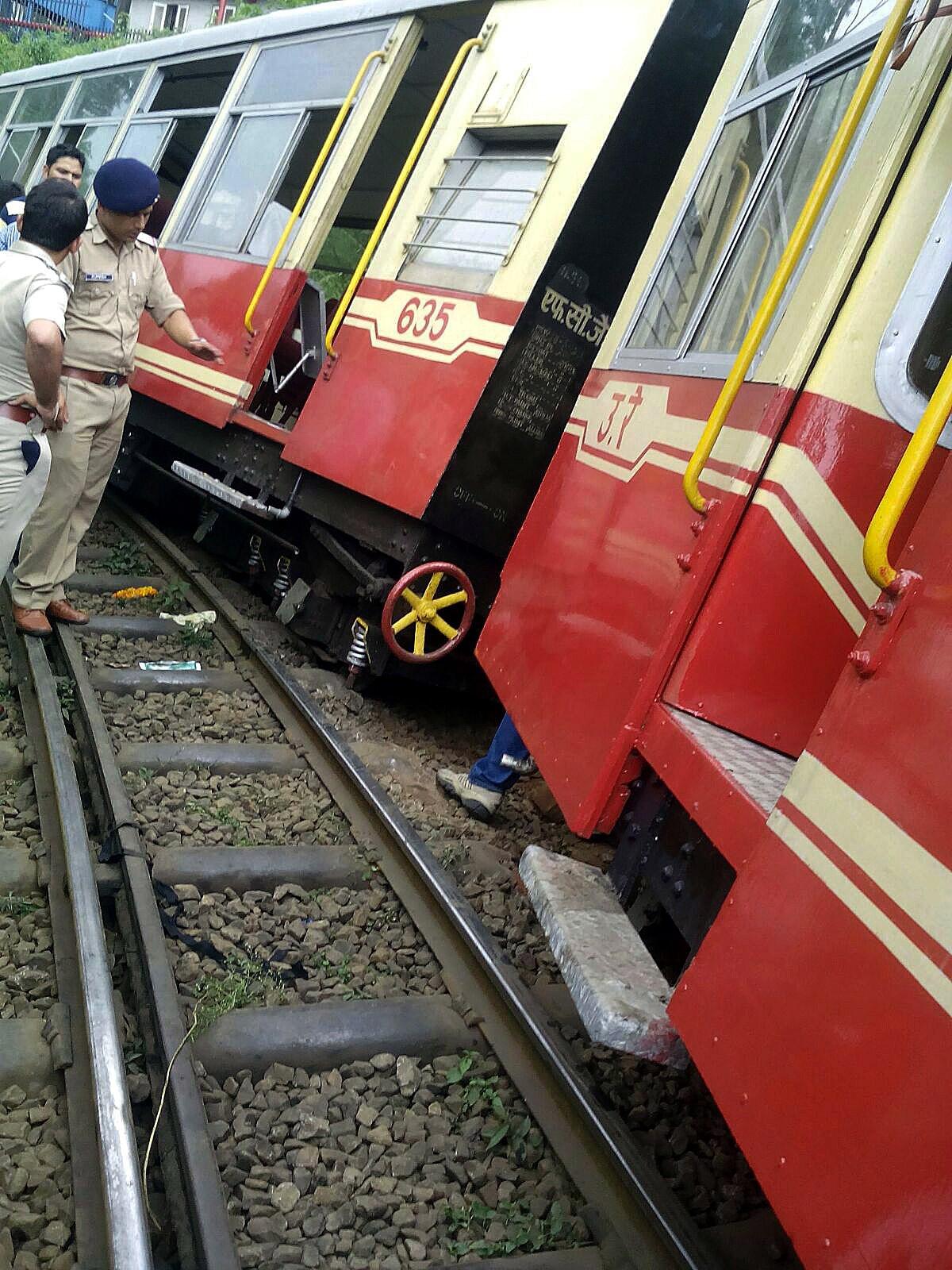 train derailment in India