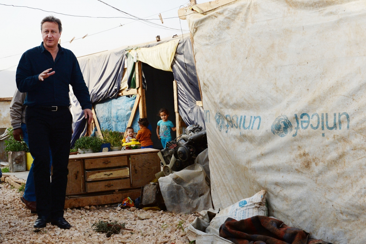 David Cameron visits refugee camp in Lebanon