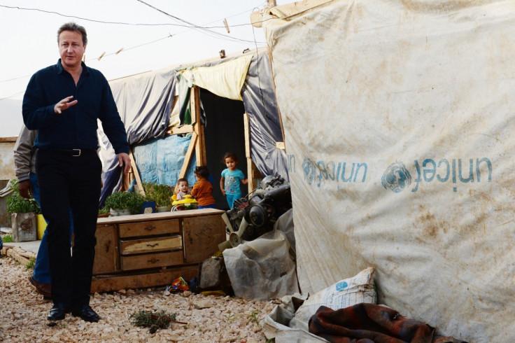 David Cameron visits refugee camp in Lebanon