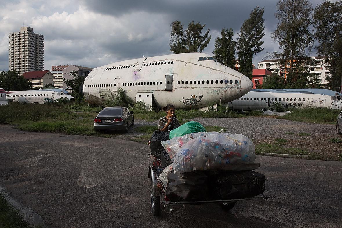 Aeroplane graveyard Bangkok