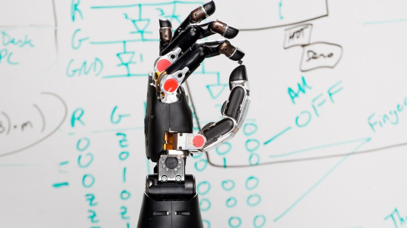 DARPA robotic prosthetic hand touch