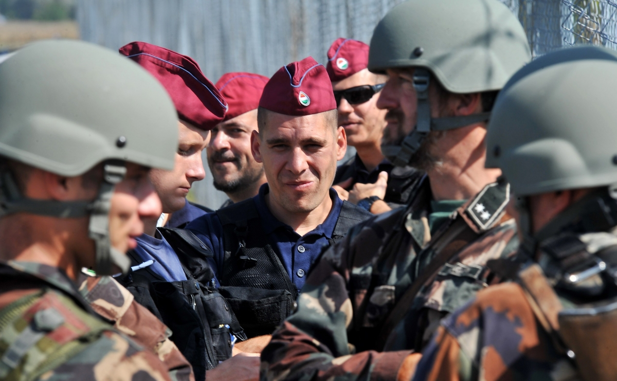 Hungarian border police