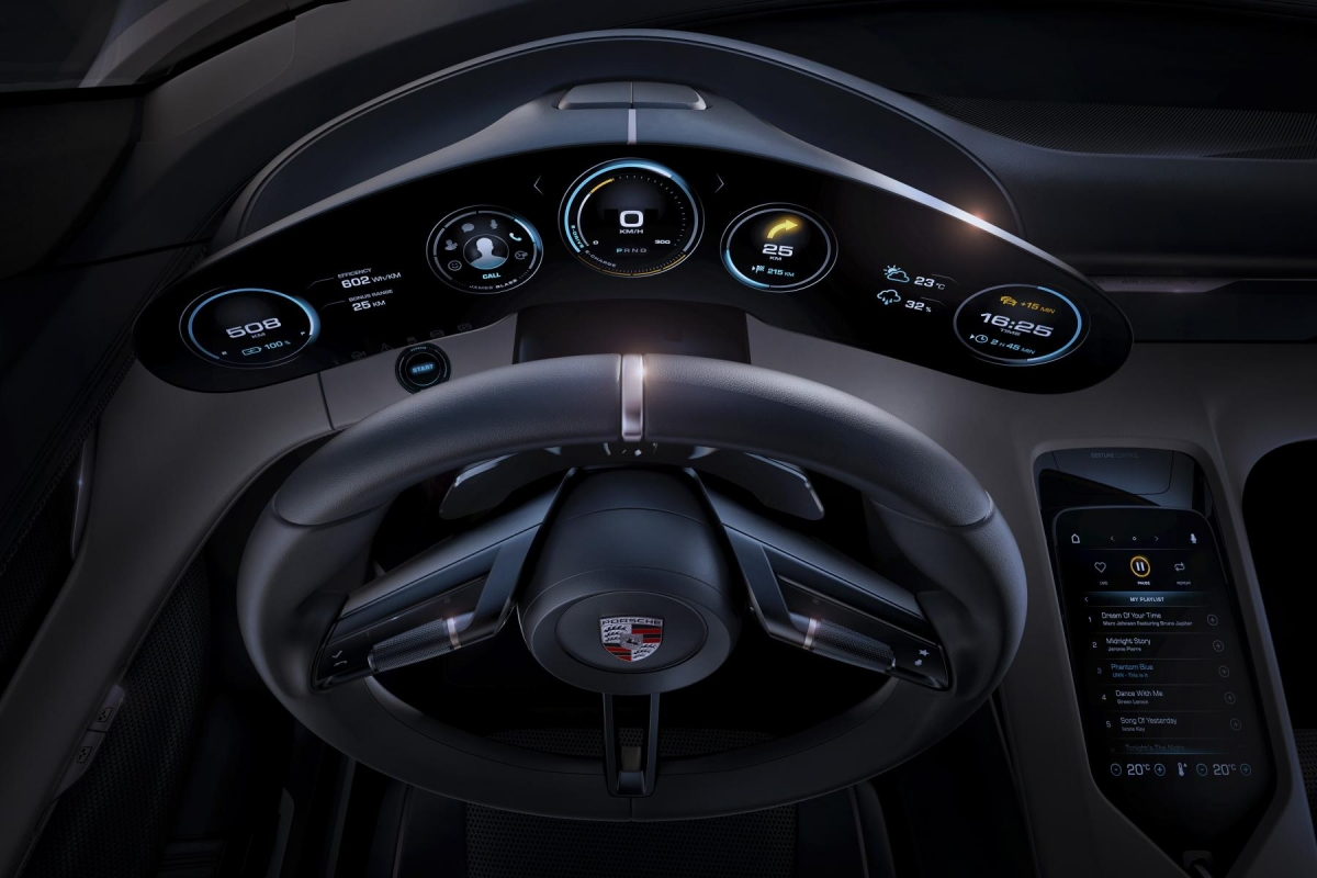 Porsche Mission E dashboard