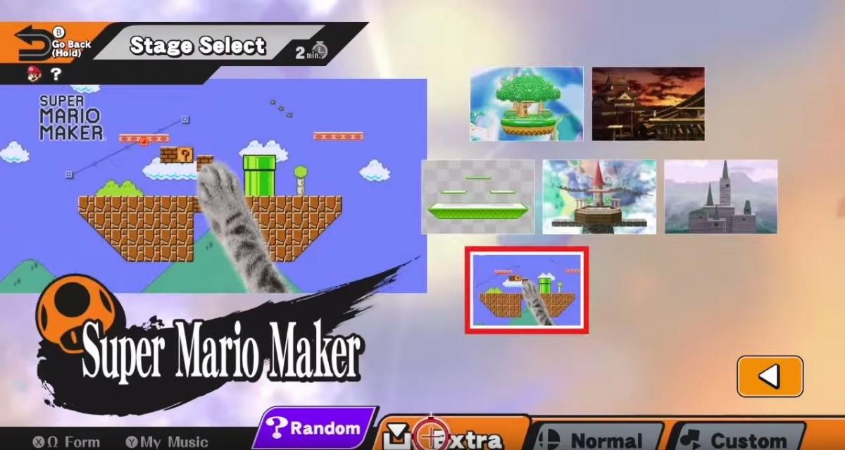 Super Mario Maker Smash Bros Stage