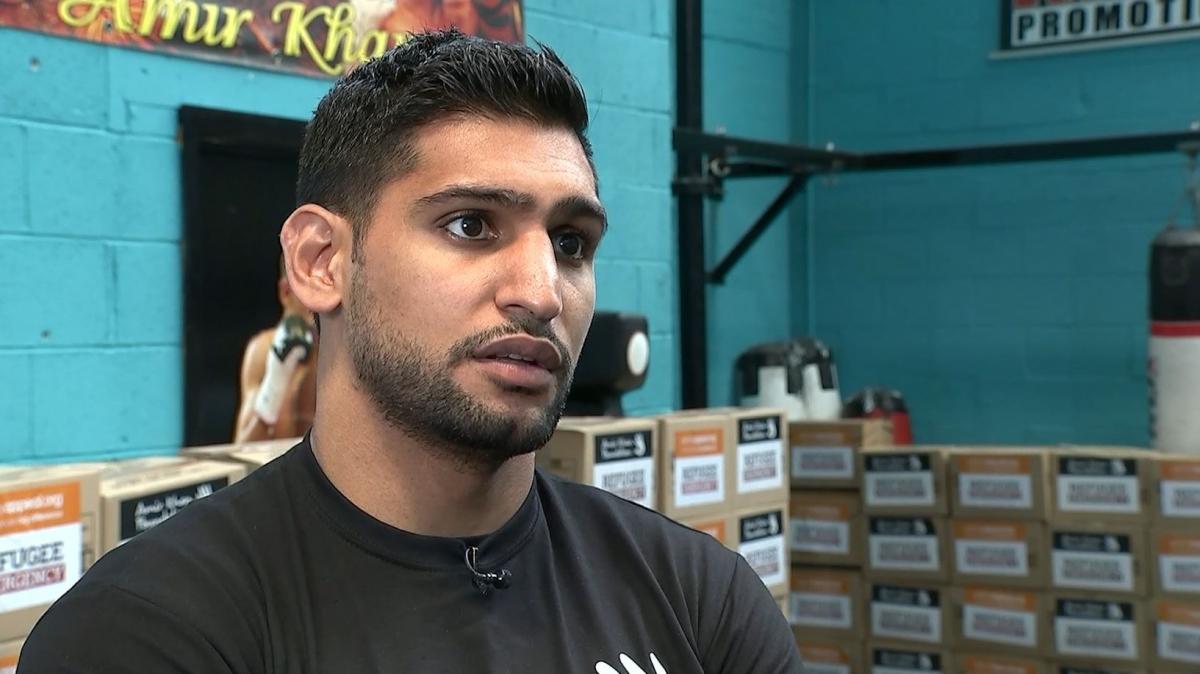 Amir Khan aid for refugees interview