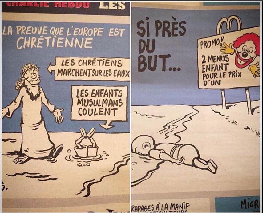 Charlie Hebdo drawing Aylan Kurdi