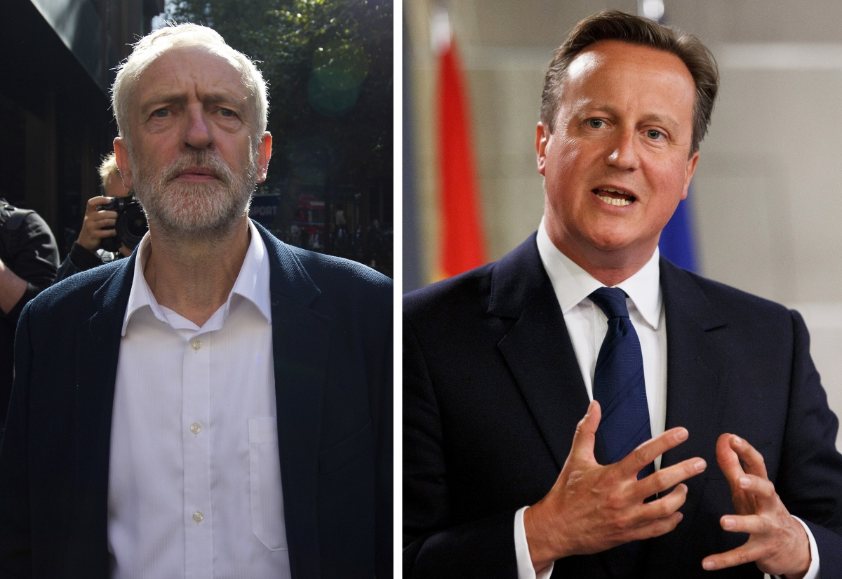 Jeremy Corbyn and David Cameron