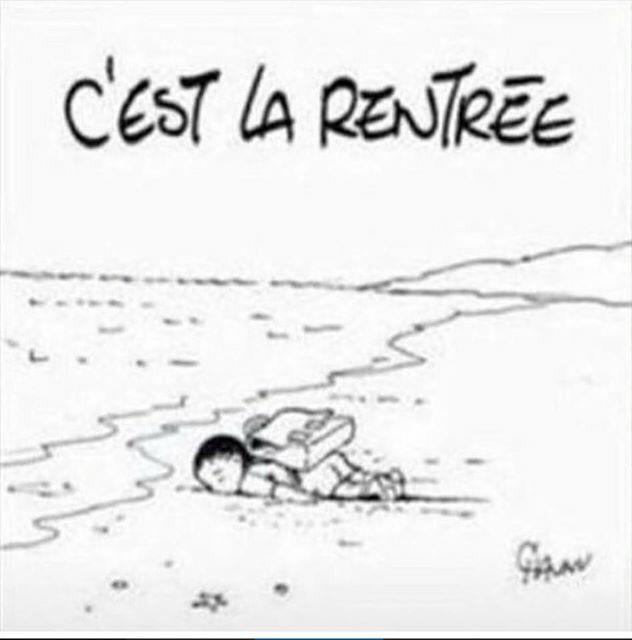 Emmanuel Chaunu Aylan Kurdi cartoon