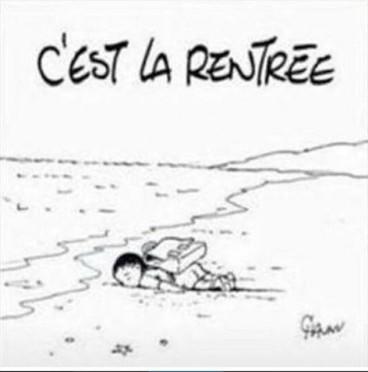 Emmanuel Chaunu Aylan Kurdi cartoon