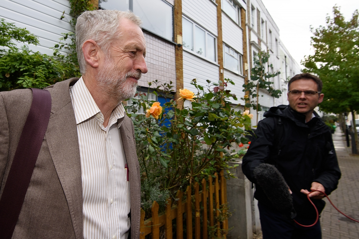 Jeremy Corbyn leaves house for PMs
