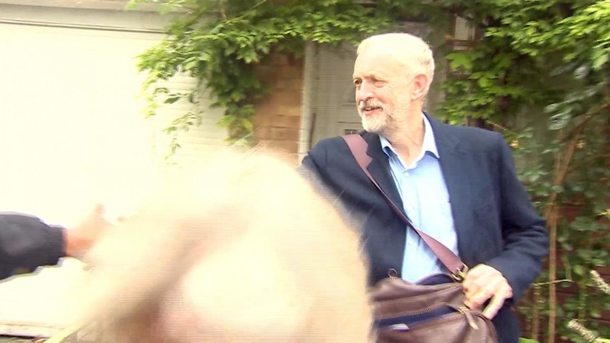 Jeremy Corbyn BBC camerman