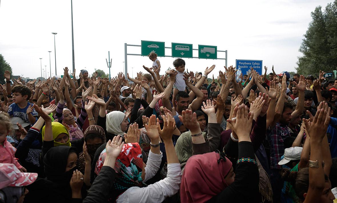 Migrants refugees Hungary border Horgos