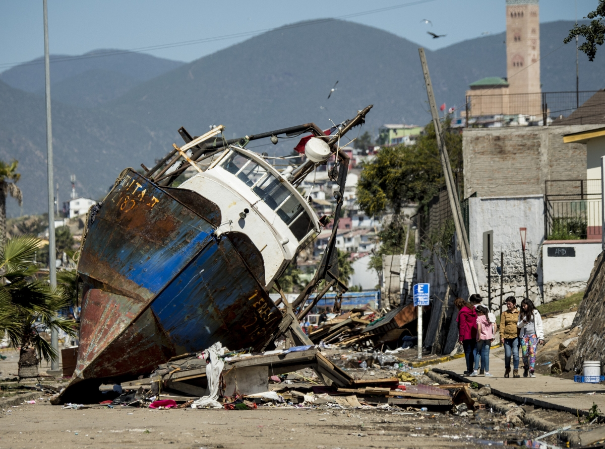 Chile earthquake triggers Tsunami