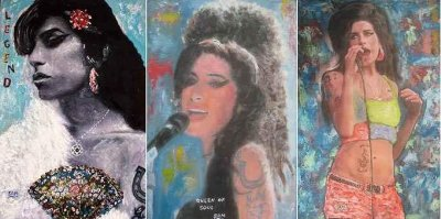 Some of Sam Shakers portraits of the late Amy Winehouse