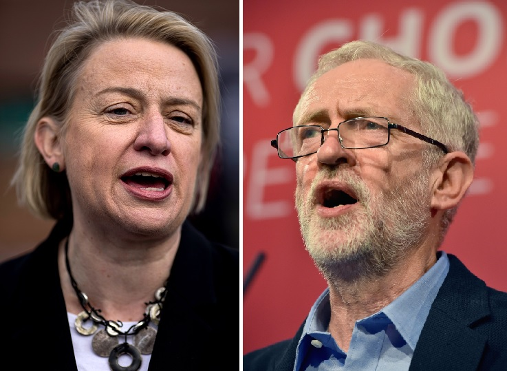 Natalie Bennett and Jeremy Corbyn