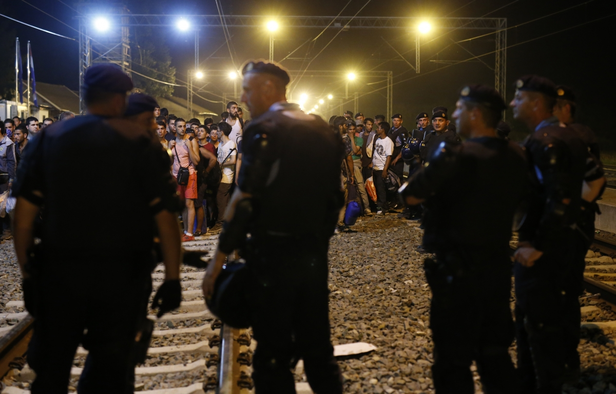 Croatia police refugees Tovarnik