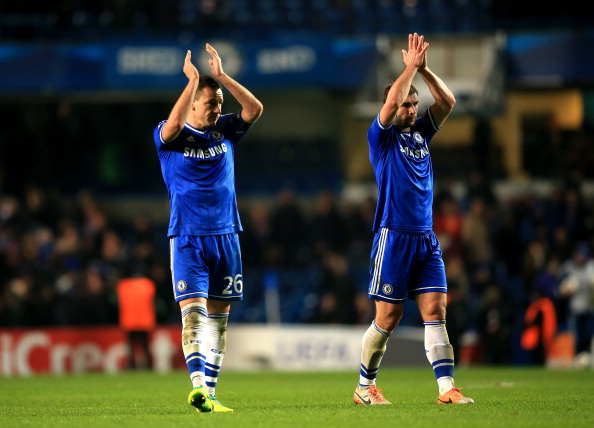 John Terry and Branislav Ivanovic