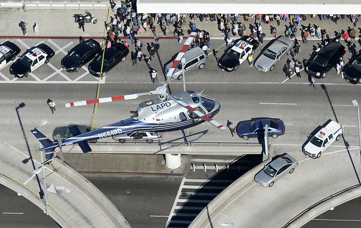 LA police helicopter