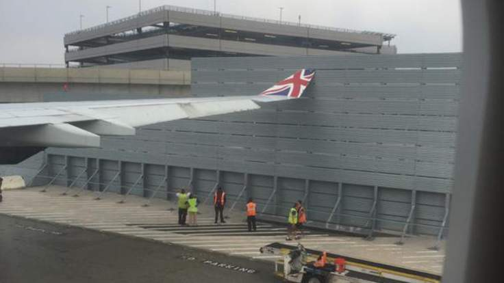 Virgin Atlantic Plane Grounded As Wing Hits Fence