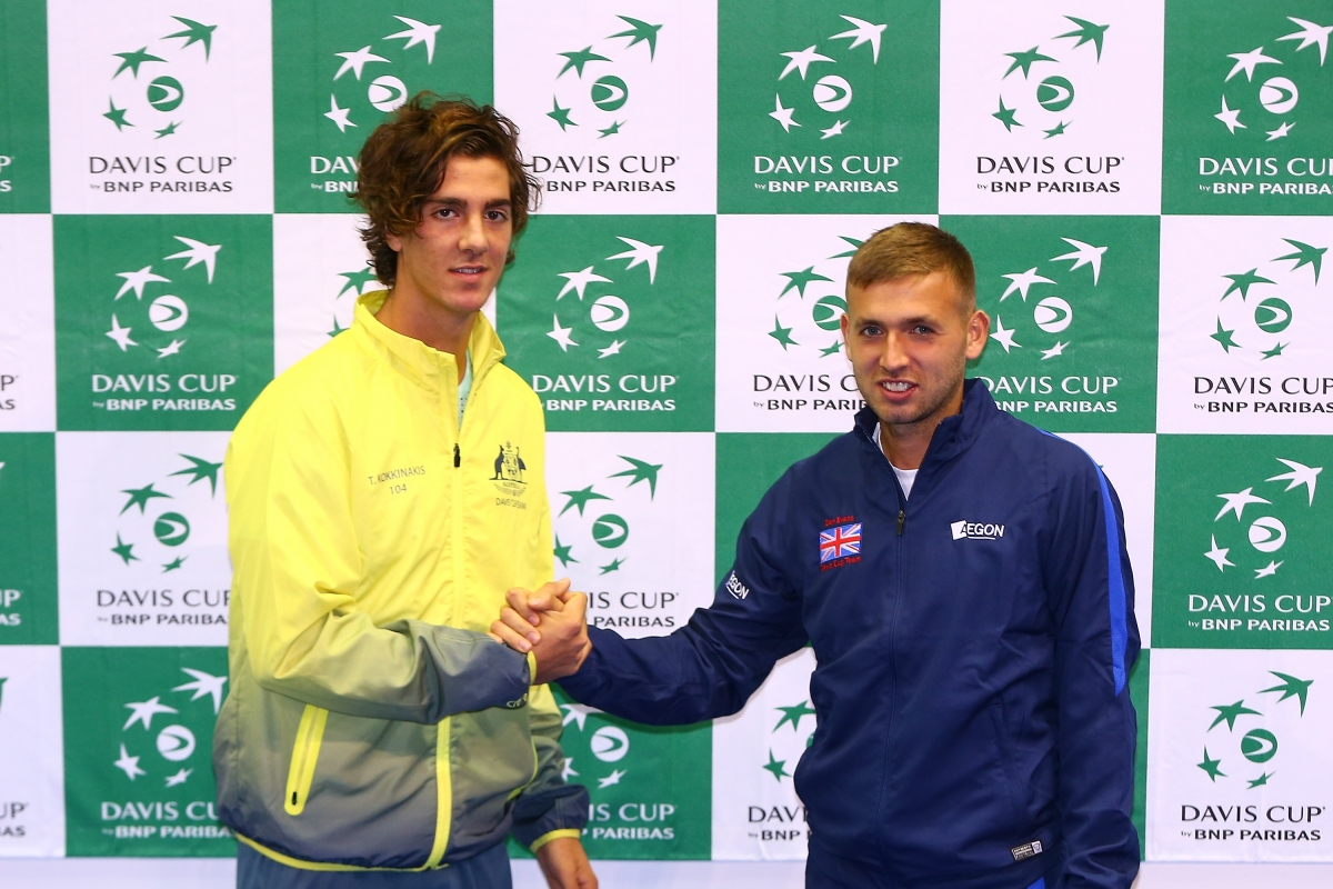 Dan Evans and Thanasi Kokkinakis