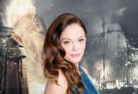 """Cast member Rose McGowan arrives at the film premiere of """"Conan the Barbarian"""" in Los Angeles, California"""