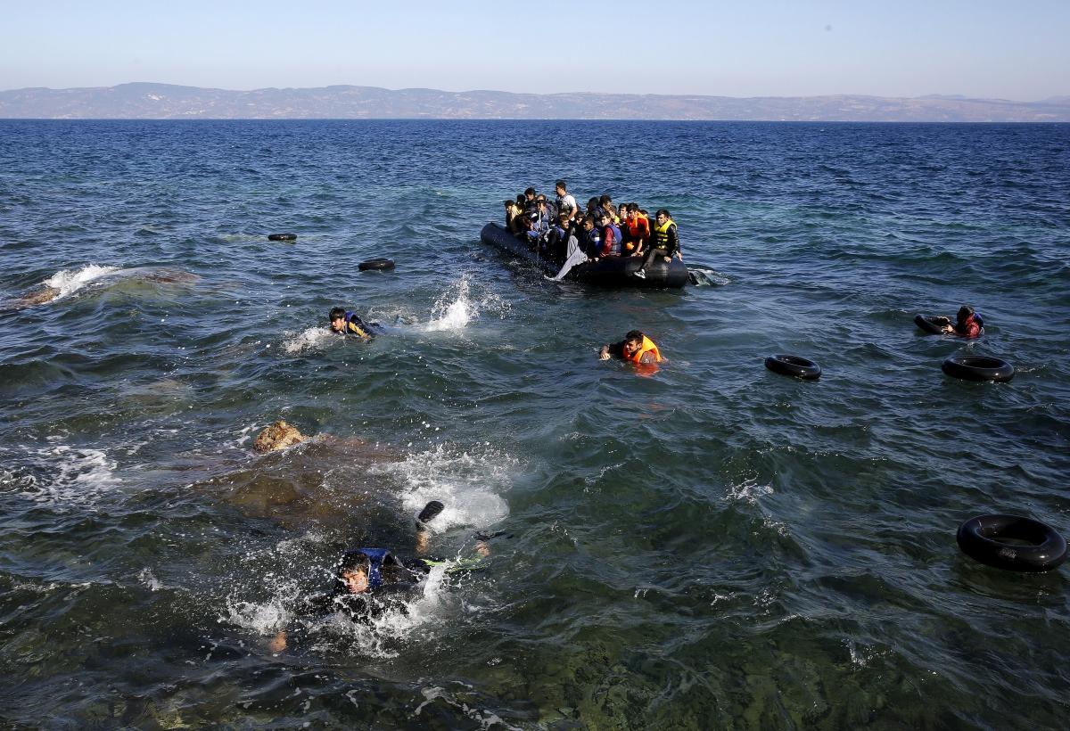 migrant crisis Lesbos drowning
