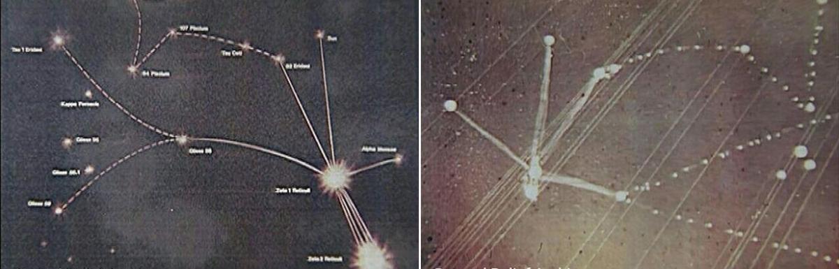 Barney and Betty Hill starmaps