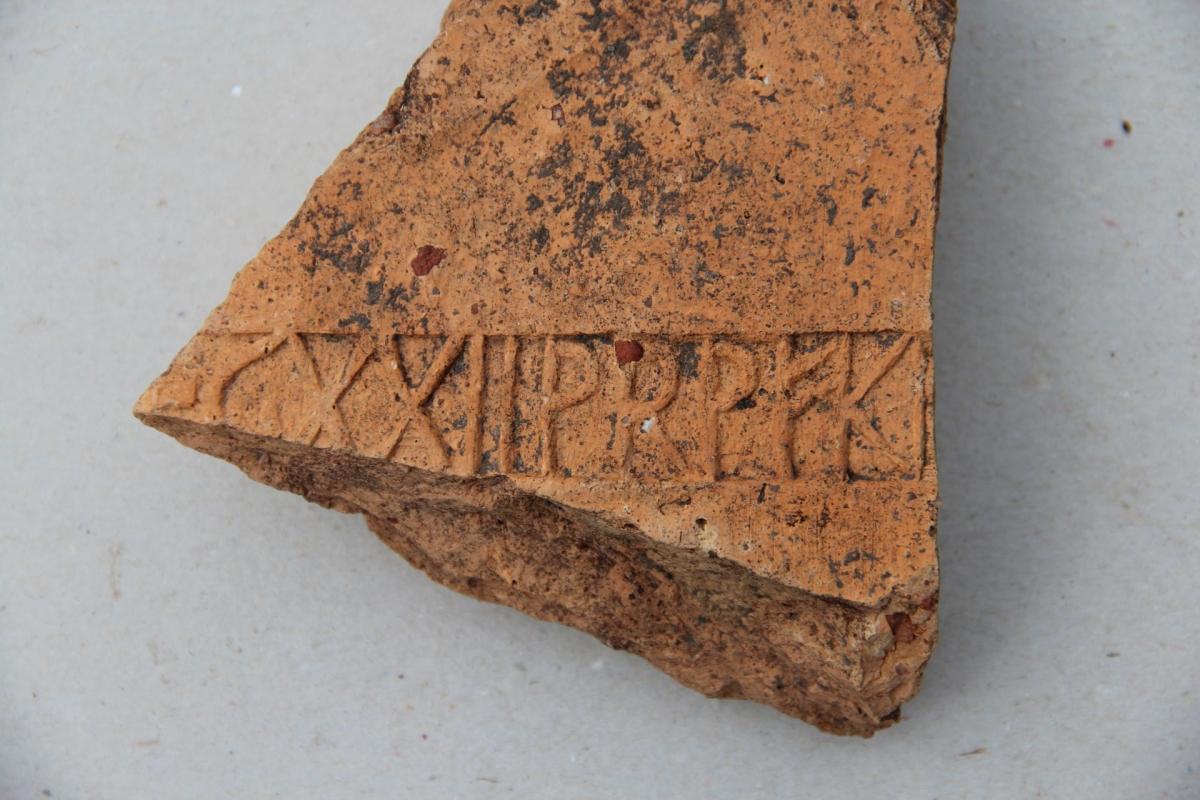 Roman brick fragment