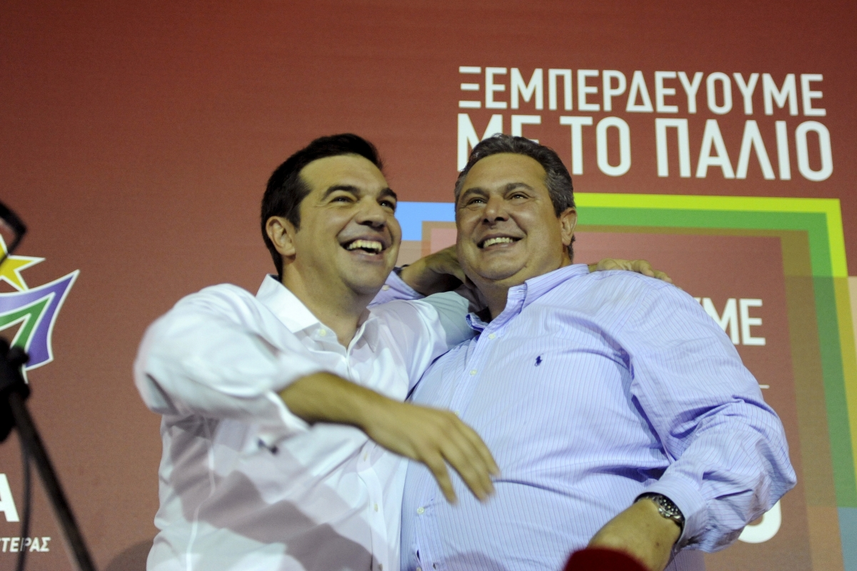 Tsipras with Kammenos
