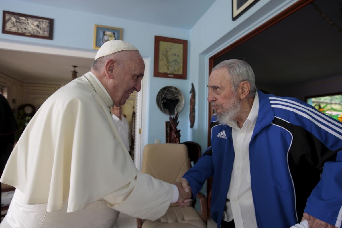 Pope Francis Fidel Castro