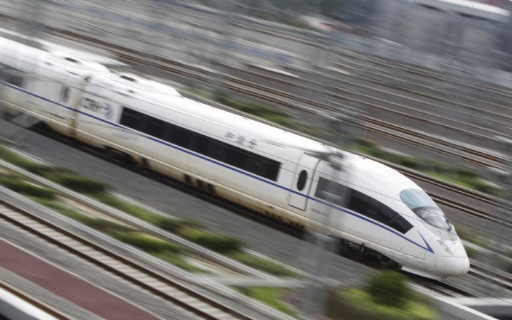 High speed train of the type proposed for the HS2 network