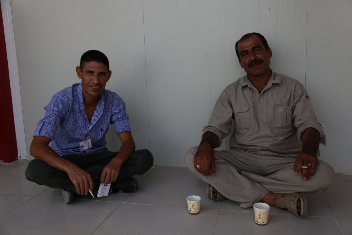 Yazidis living in IDP camp in Iraq