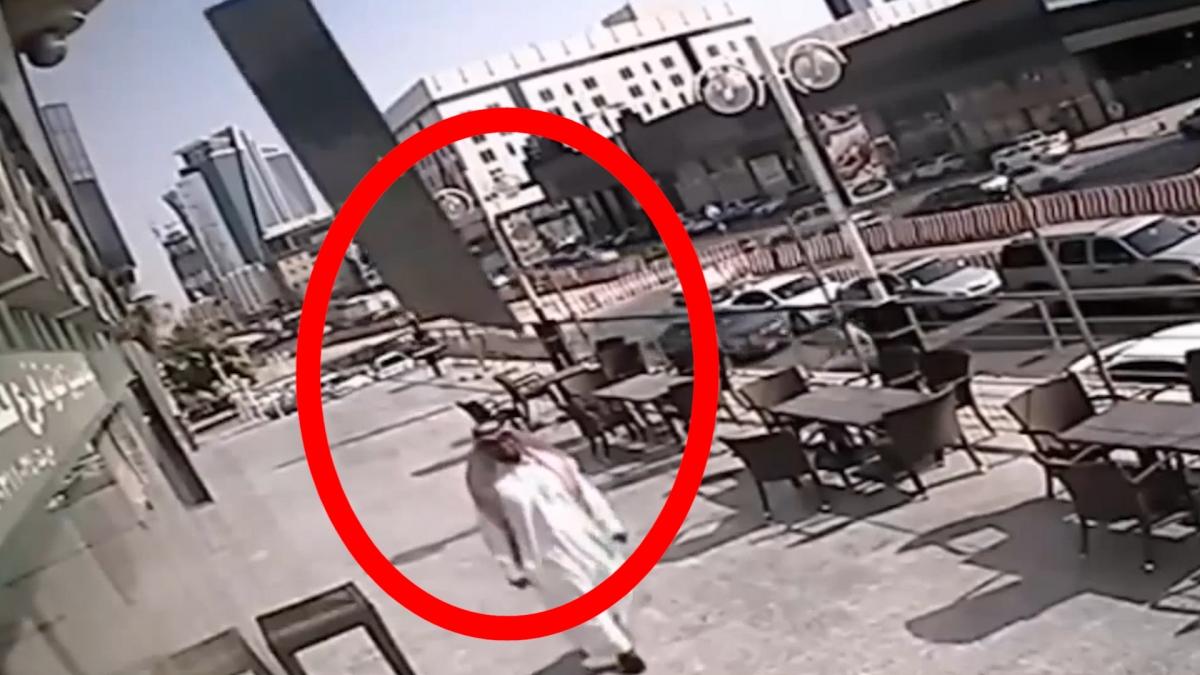 Falling glass Saudi Arabia