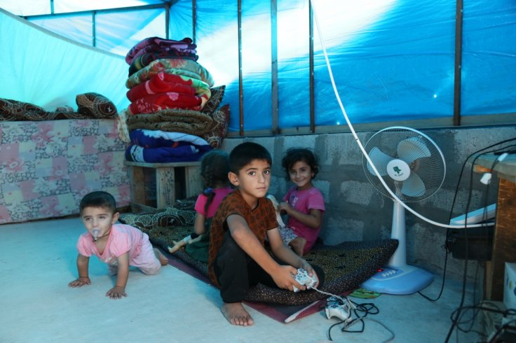 Yazidi children living in IDP camp