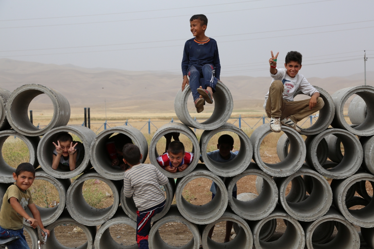 Syrian refugees in Barika camp in Iraq