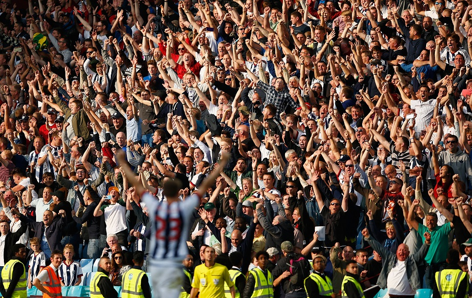 West Brom fans