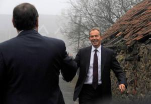 Phil Wilson and Tony Blair