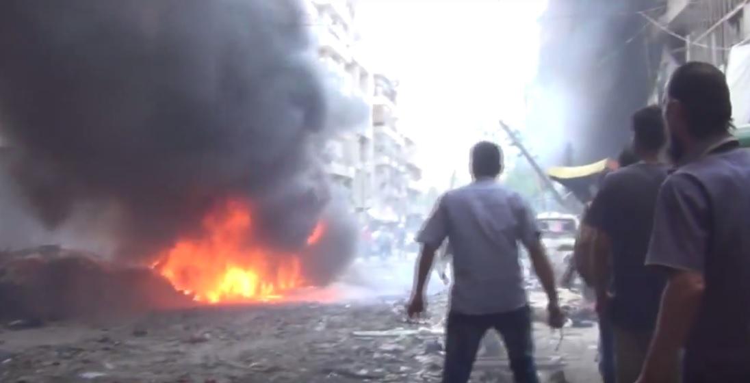 Aleppo Syria bomb