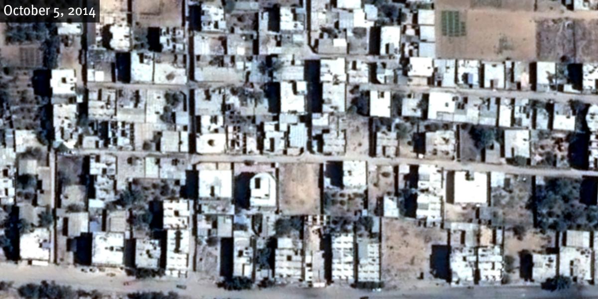Mount Sinai neighbourhood destruction
