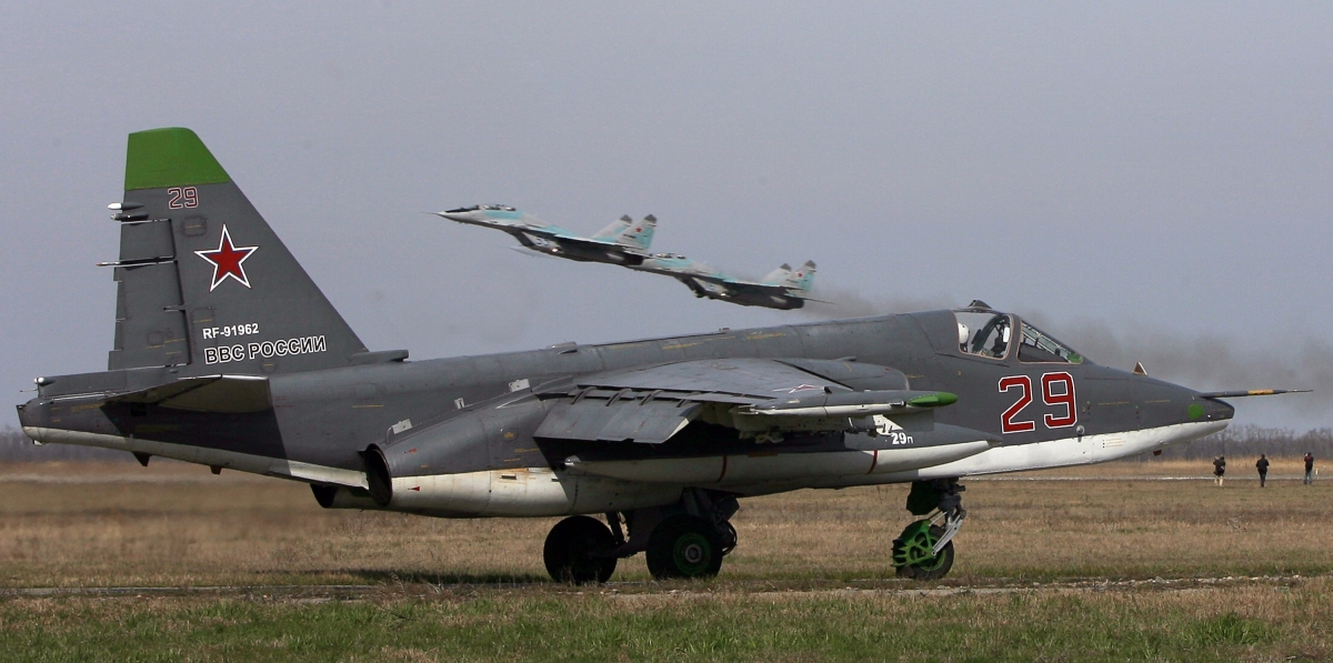 Russian SU-25 fighter jet