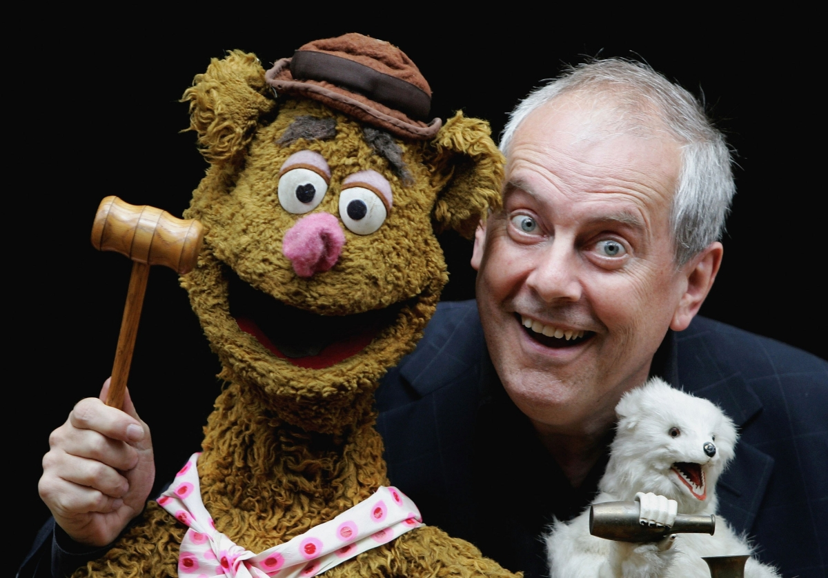 Giles Brandreth and Fozzie Bear