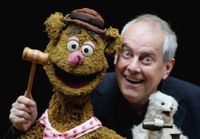 Giles Brandreth and Fozzie Bear